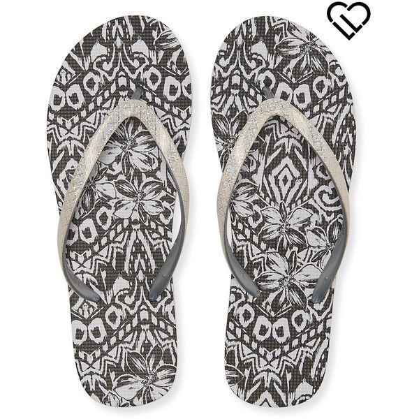 Aeropostale Hawaiian Shine Flip-Flop ($8) ❤ liked on Polyvore featuring shoes, sandals, flip flops, bleach, hawaiian flip flops, slip on sandals, polish shoes, glitter shoes and slip-on shoes