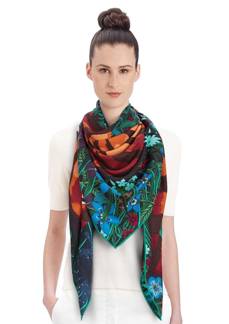 Cashmere Silk Scarf - Coral-7-2 Cashmere Silk by VIDA VIDA 4EChG