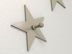 Kleiner Stern als Garderoben Haken in Edelstahl