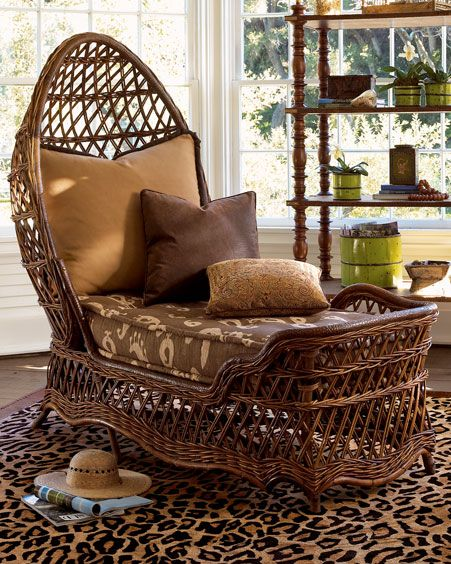 wicker chaise lounge