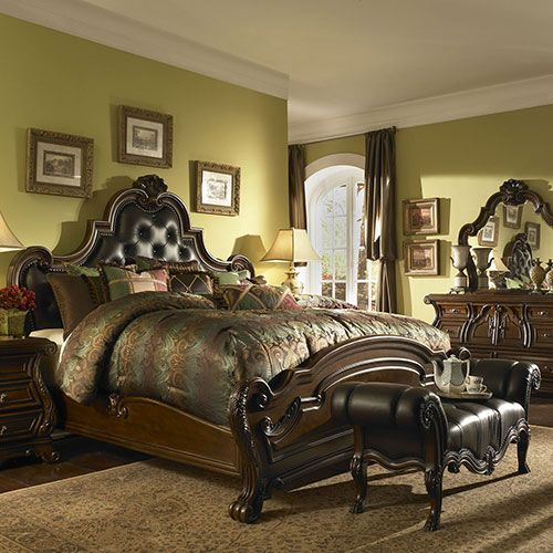 Bedroom Furniture Traditional Luxury Bedroom Interior Blue And Yellow Bedroom Colors Ikea Bedroom Ideas Hemnes: Michael Amini Furniture Designs