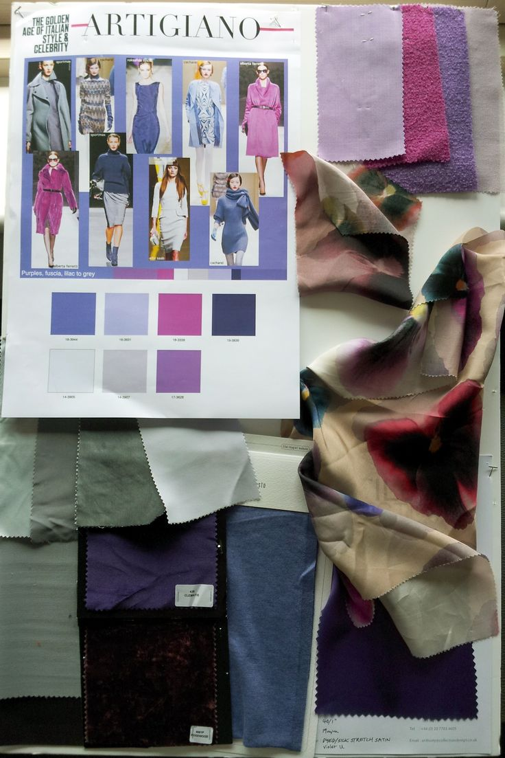 Artigiano fashion mood board: Colours AW13
