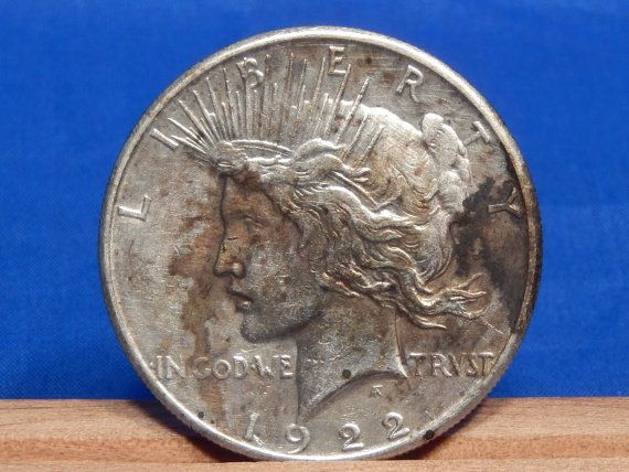 1922 S Peace Dollar Silver Coin San Francisco by RascalsRarities