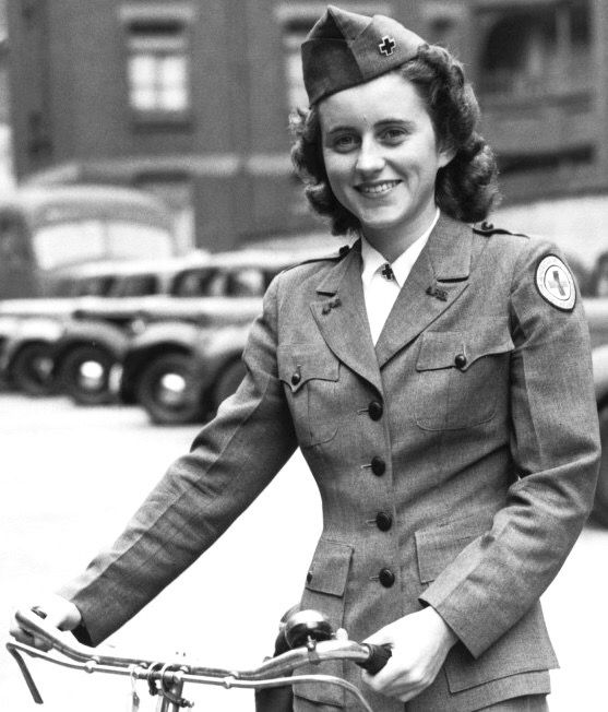 1943, Kathleen Kennedy in her 'Red Cross' uniform