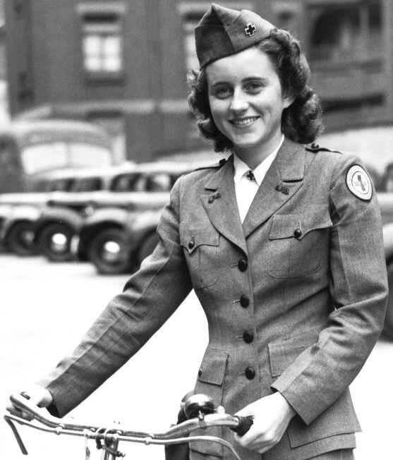 1943, Kathleen Kennedy in her 'Red Cross' uniform