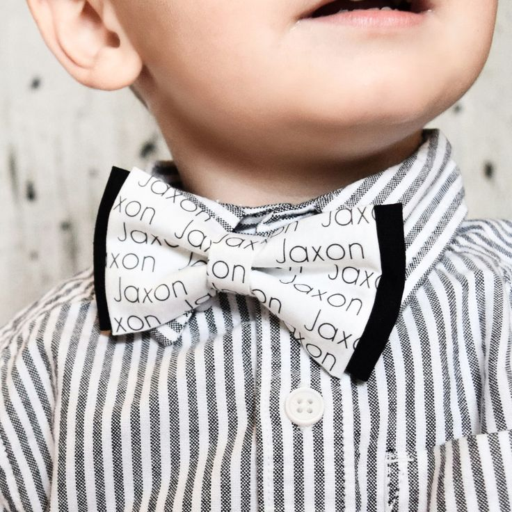 Personalized Toddler Bow Tie - Personalized Baby Shower Gift - Personalized Gift - Bow Tie - Toddler Bow Tie - Toddler Fashion - Bow Ties by Charlotte's Webtique