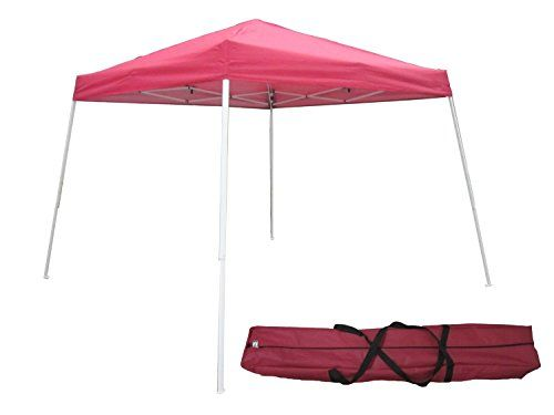 Otlive 10x10 Commercial Canopy Slant Leg Easy Popup Sun Rain Canopy Shade Red Be Sure To Check Out This Awesome Product Hiking Tent Commercial Canopy Camping Hiking