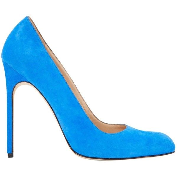 Pre-owned Manolo Blahnik Heels (€350) ❤ liked on Polyvore featuring shoes, pumps, blue, women shoes heels, blue suede pumps, blue suede shoes, manolo blahnik, blue stilettos and manolo blahnik pumps