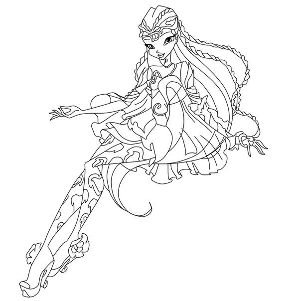 Winx Club Bloomix Coloring Pages Fairy Tattoo Cartoon Coloring Pages Winx Club