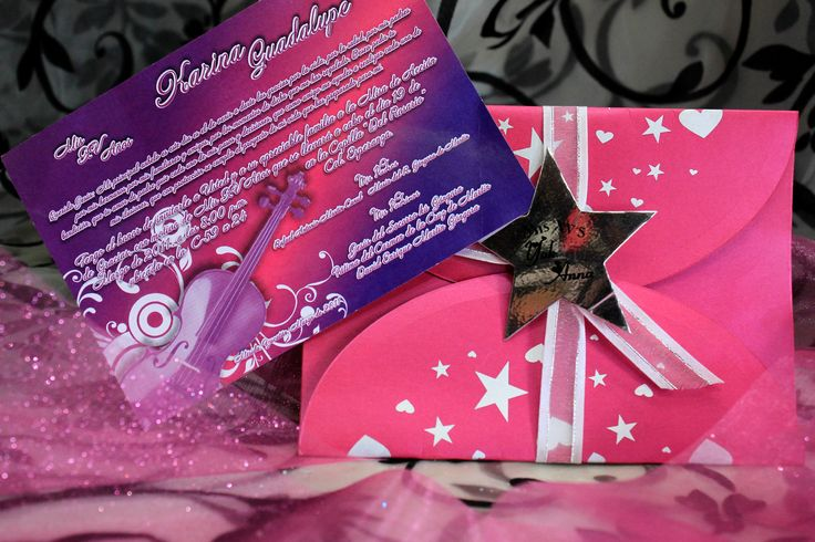 Invitacion dee xv a os estrella invitaciones xv a os for Decoracion con estrellas