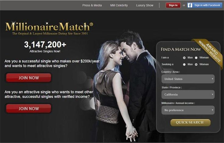 MillionaireMatch is the largest & original millionaire dating site since 2001. Read our comprehensive review to learn more.