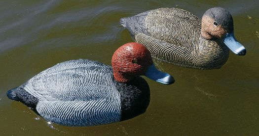 Prairiewind Decoys. SUPER MAGNUM Swivel REDHEAD Duck Decoys 6pk ...