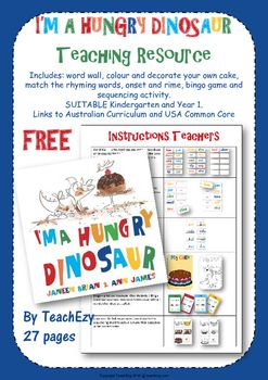 I'm a Hungry Dinosaur Teaching Resource
