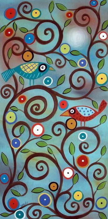Branch Birds by Karla Gerard