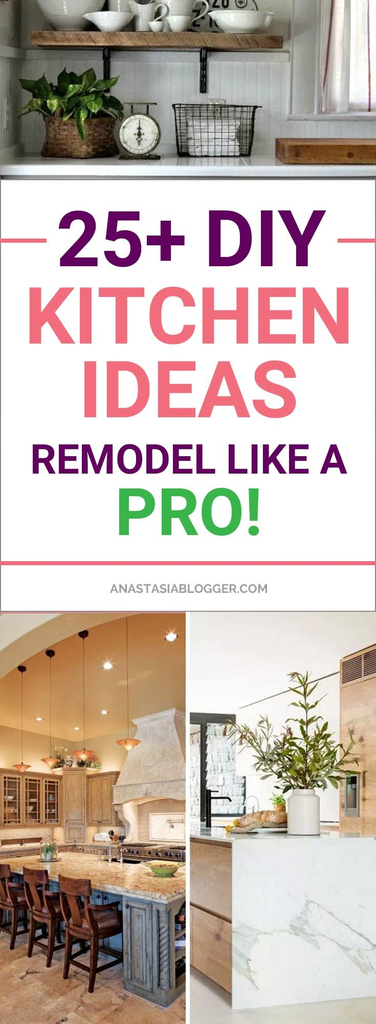 Look at these DIY Remodeling Kitchen Ideas on a Budget – they will teach you how to make a small kitchen look bigger! You can find here what are the different styles of kitchens and what are the different types of kitchen layout – get some kitchen design and decor ideas, furniture makeovers. #diy #kitchen #kitchendesign #KitchenIdeas #kitchendesignideas #decor #decoration