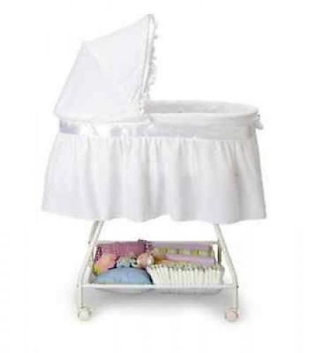 Delta Children's Products Sweet Beginnings Bassinet White Nursery Furniture #DeltaChildren