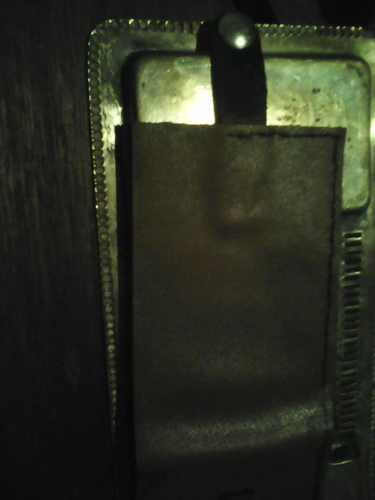 outer  cover will press stud (salvaged from leather Zippo holder) attached