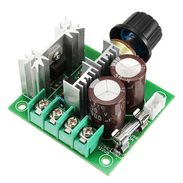 3pcs DC 12V-40V 10A 13Khz Motor Speed Controller Pump PWM Stepless Speed Change Speed Control Switch Large Torque 50V 1000uF Large Capacitor IRF3205 Power Tube With Over-Voltage Protection Function