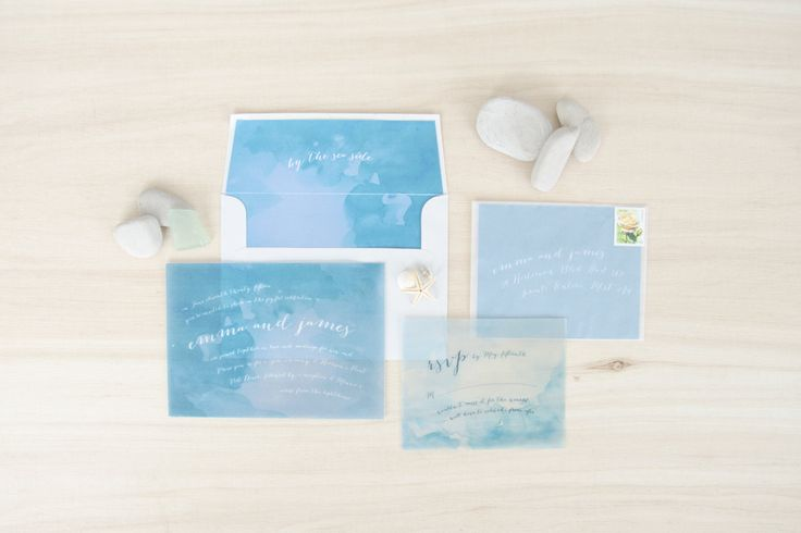 By The Sea - Beach and destination watercolour and calligraphy wedding – Bueno Market