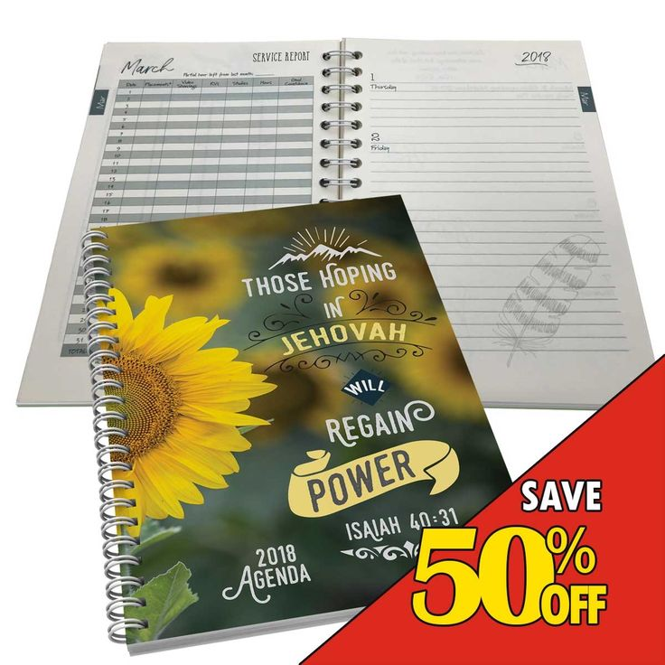 Deluxe 2018 Theocratic Weekly Agenda + Diary for Jehovah's Windows
