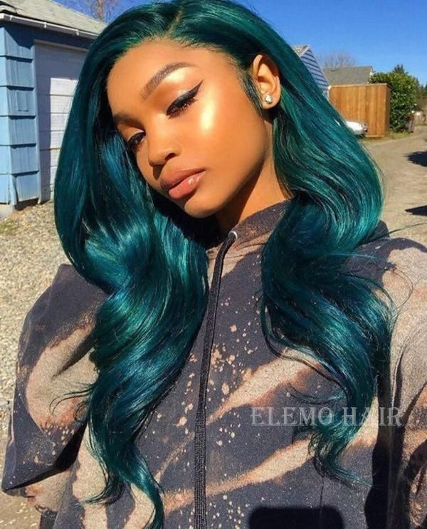 Stunning Aquamarine Body Wave Lace Front Wigs In 2020 Wig