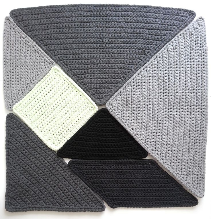 Crochet rug 'Tangram' XXL @Amy Stephens Mossman This is SOOOOOO up your alley only blanket style not rug :)