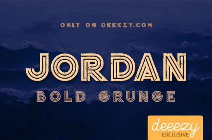 Jordan Bold Grunge Font | Deeezy - Freebies with Extended License