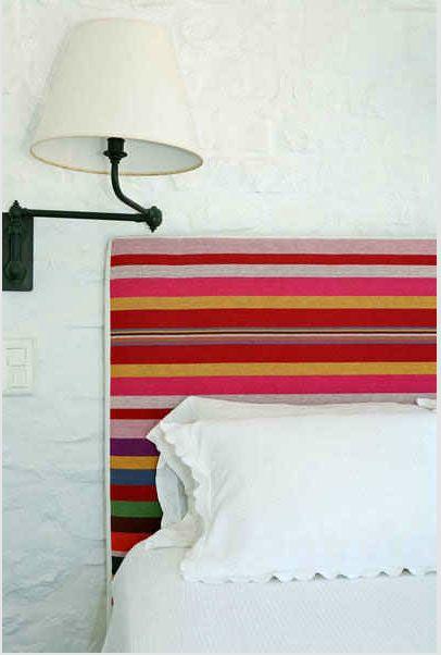 striped headboard