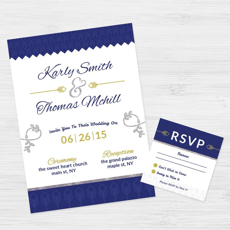 7 best invitation design images on pinterest invitation design wedding invitation photoshop template customizable wedding invitation blue and gold by f5phototemplates on etsy stopboris Images