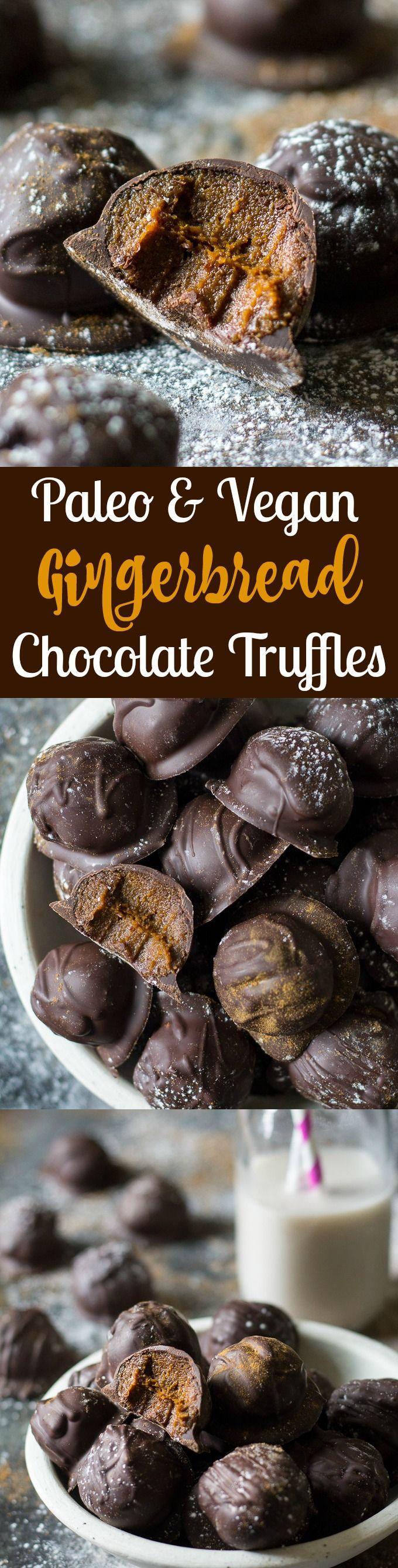 Gingerbread Chocolate Truffles - paleo and vegan