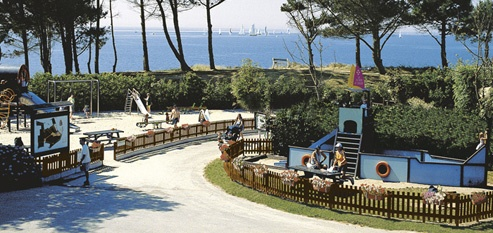 Benodet Camping Pointe St Gilles**** sea view from the point.