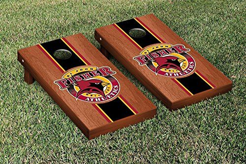 St John Fisher College SJFC Cardinals Cornhole Game Set Rosewood Stained Stripe Version *** Details can be found by clicking on the image.