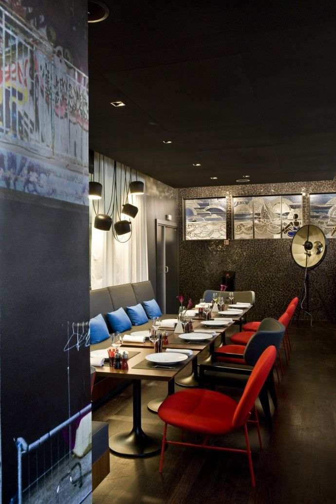 Restaurant at the MGallery Hotel Molitor Paris, Mgallery Collection designed by Jean Philippe Nuel of Agence Nuel