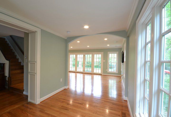 Benjamin Moore Palladian blue said to be the most beautiful color as it changes with the angle of the light all day long. It is peaceful, flattering and not pastel. Its a grayed down, robin's egg blue