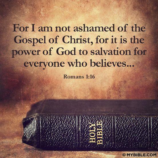 Are You Ashamed of the Gospel? |