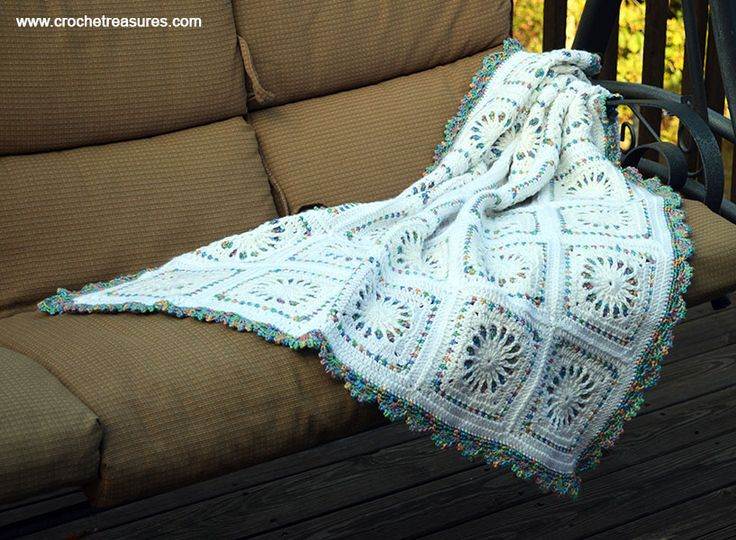 White Stained Glass Afghan