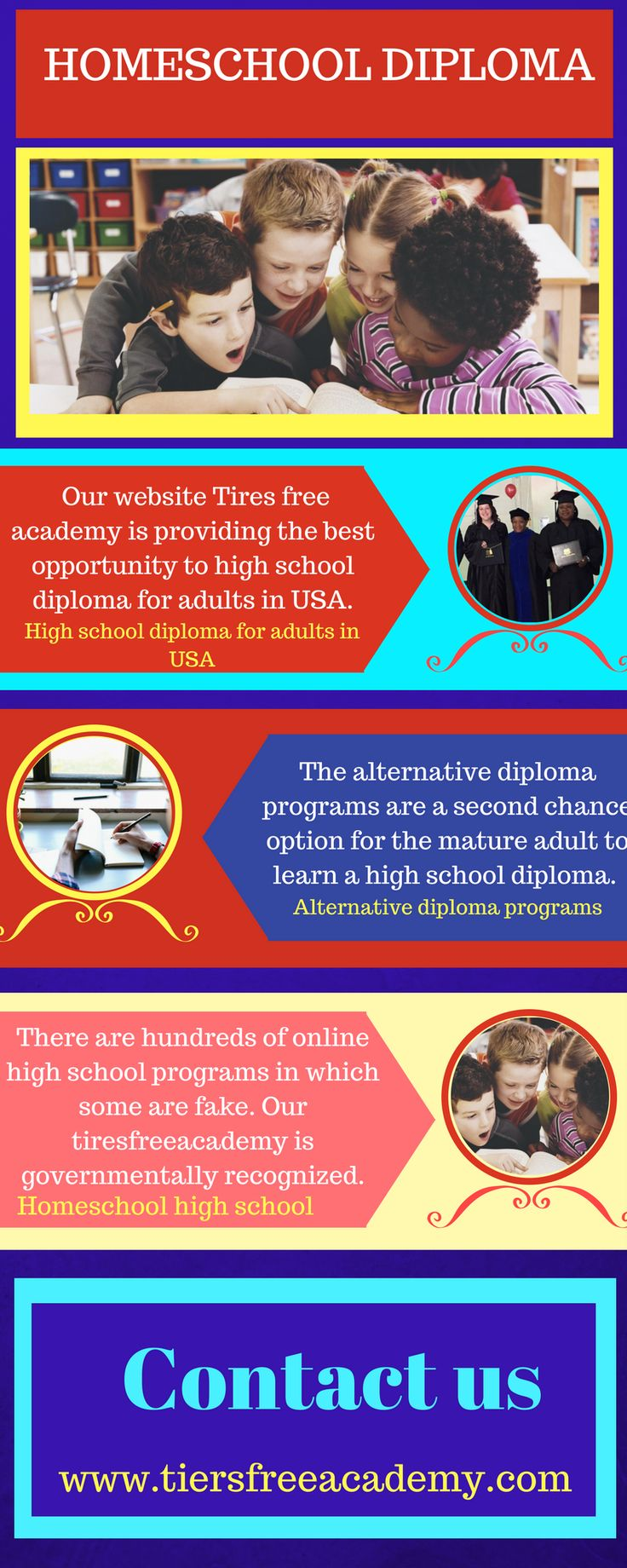 Are you looking for an affordable online high school program? We provide cheap high school diploma for adults in USA. There are hundreds of online high school programs in which some are fake. Our tiresfreeacademy is governmentally recognized. If you are interested in joining our tires free academy then, Visit at http://www.tiersfreeacademy.org