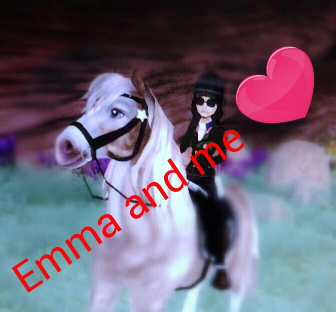 A perfect edit -  photo of me and Emma <3