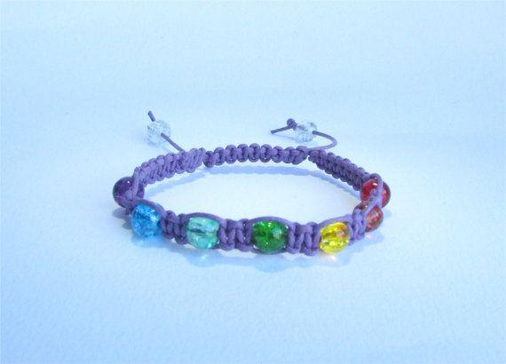 Purple Healing Chakra Bracelet from Ireland by DelabudCreations