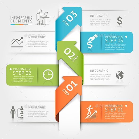 Modern Arrow Origami Infographics Template. - Infographics