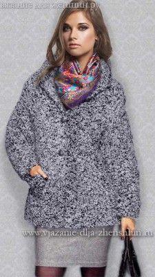 Módní pletený kabát podzim-zima 2015-2016 NÁVOD