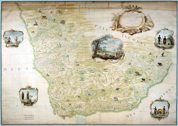 The King's Map, François le Vaillant in Southern Africa: 1781-1784, in die Iziko Suid-Afrikaanse Museum in Kaapstad duur tot 26 Mei 2013.