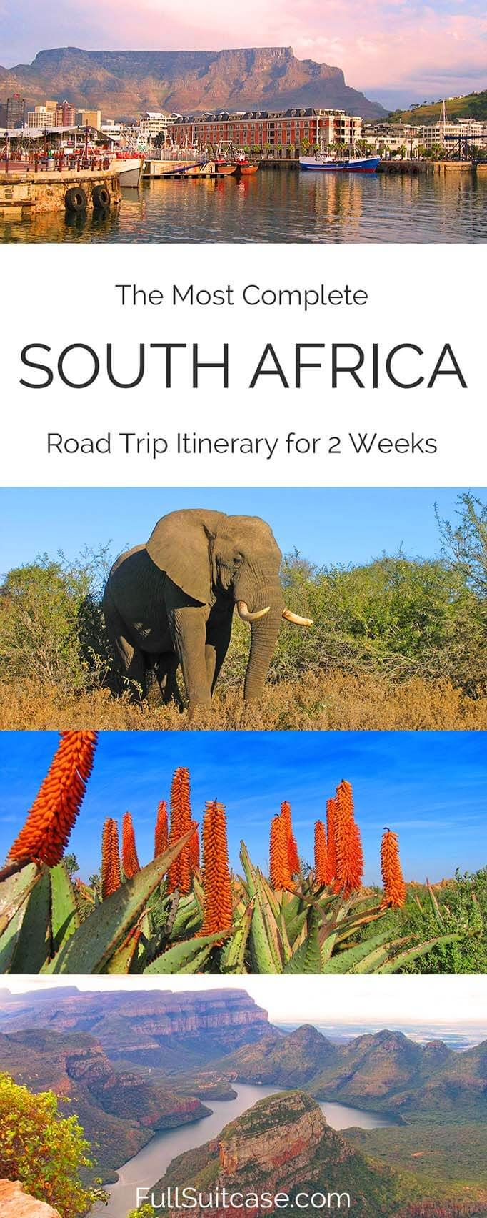 Complete South Africa road trip itinerary. See the best of South Africa in 15 days. #southafrica