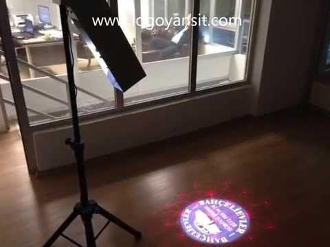 Logo Yansıt Tripod Ayaklı Dış Ortam Dönen Logo ve Lazer yansıtıcı Sürücü Kursu Reklam videosu - YouTube