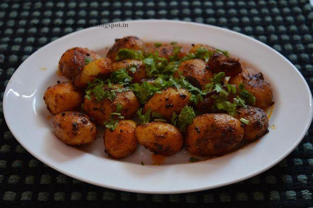 Onion Potato Bhaji Recipe - Potatoes are  ready to be cooked!