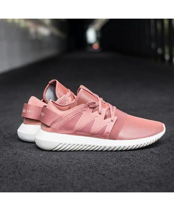 2927b36d60ff Adidas Tubular Raw Pink White Womens Trainers
