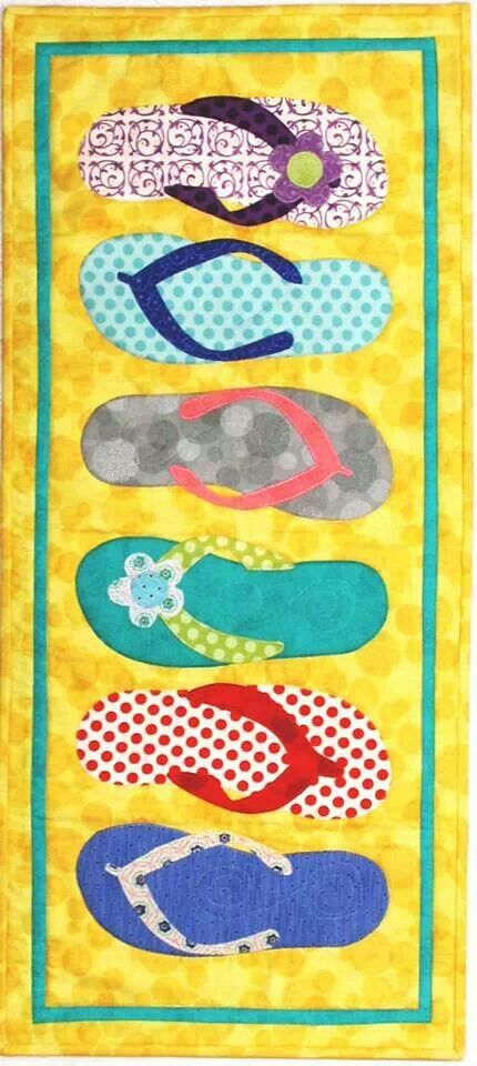 Flip flops are perfect for a summer table runner                              …
