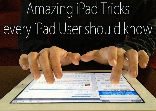 Amazing iPad Tricks every iPad User should know.  For example, #10 - did you know that when you tap the double tap the space bar on the keyboard, the iPad will  end a sentence with a period and capitalize the next letter that you type?  Nice time saver.