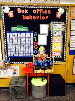 Movie themed classroom Box Office Behavior board. Classroom management ideas/behavior.