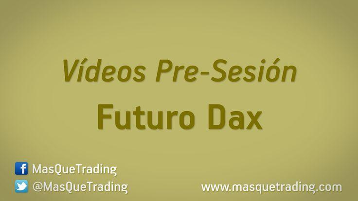 Vídeo análisis pre-sesión del Futuro DAX (FDAX) día 15-1-2016 http://www.masquetrading.com/mercado/Dax.html Comentarios y consultas a info@masquetrading.com